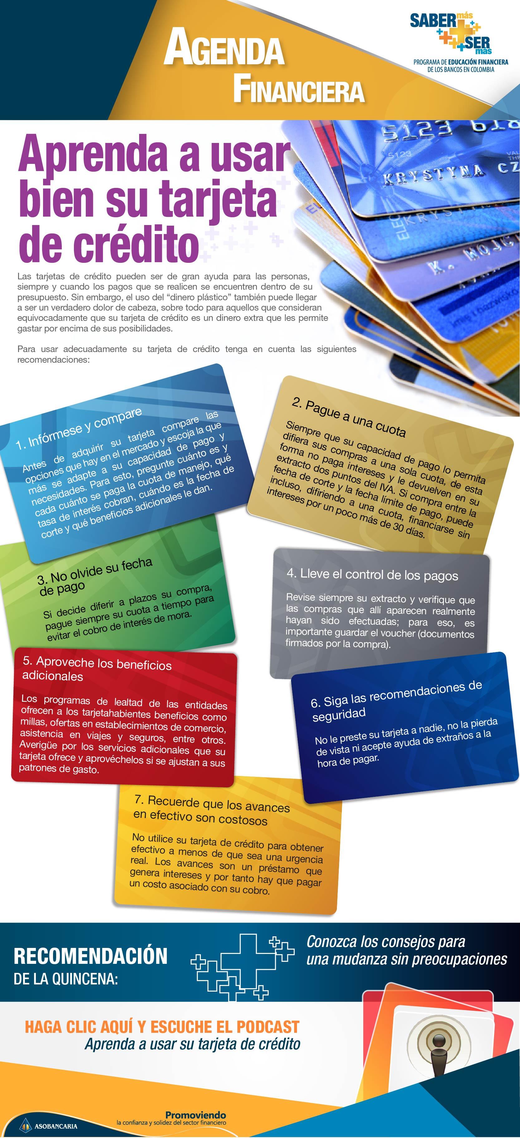 Boletin 13 - Aprenda a usar bien su tarjeta de credito