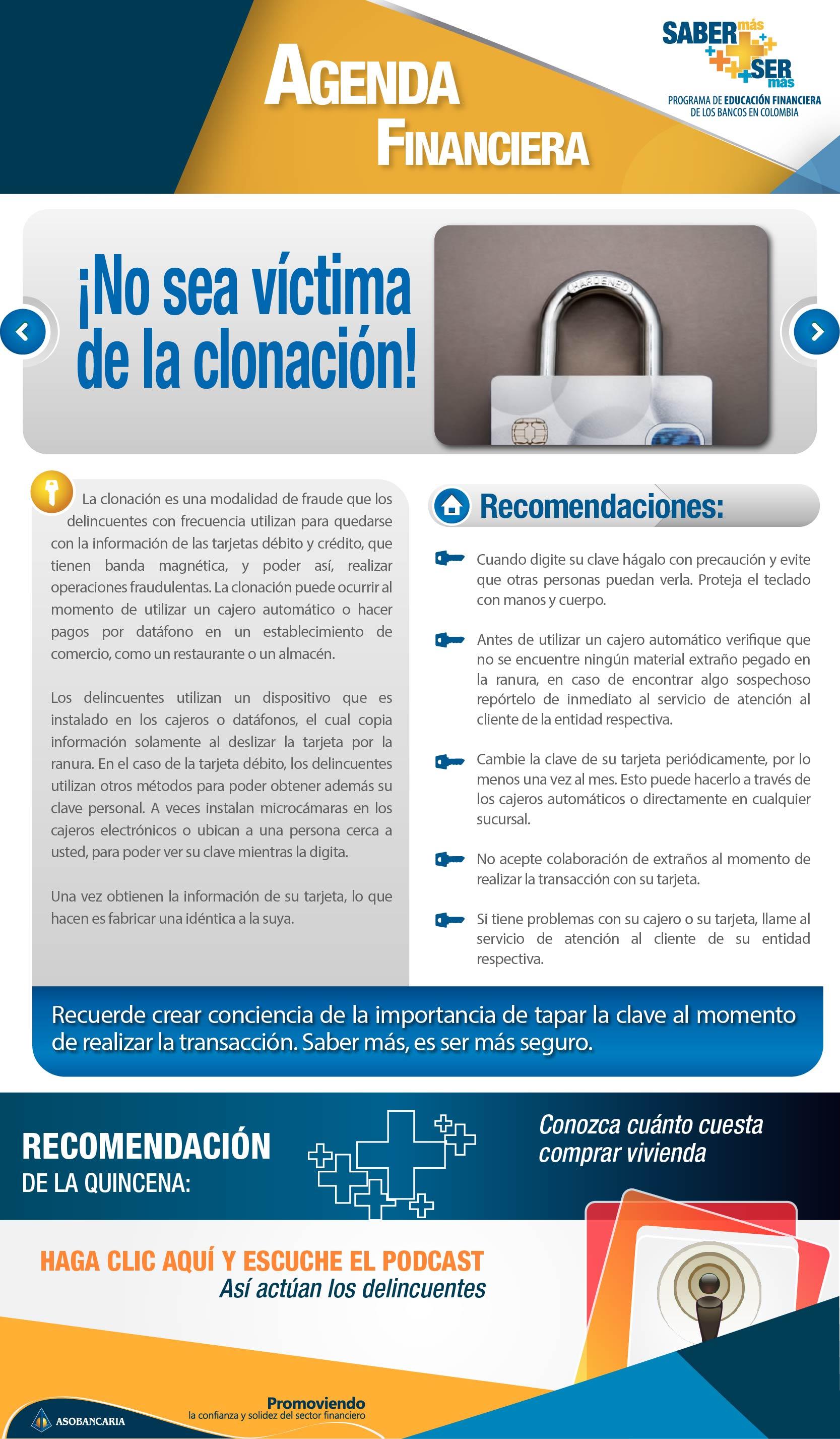 Boletin 14 - No sea victima de la clonacion