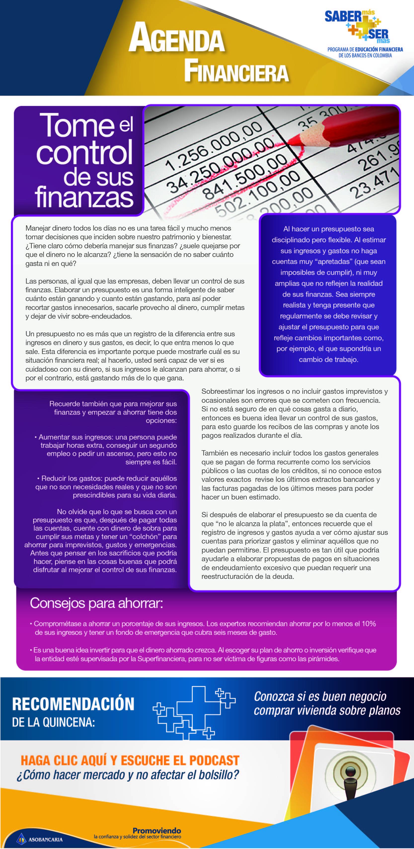 Boletin 2- Tome el control de sus finanzas