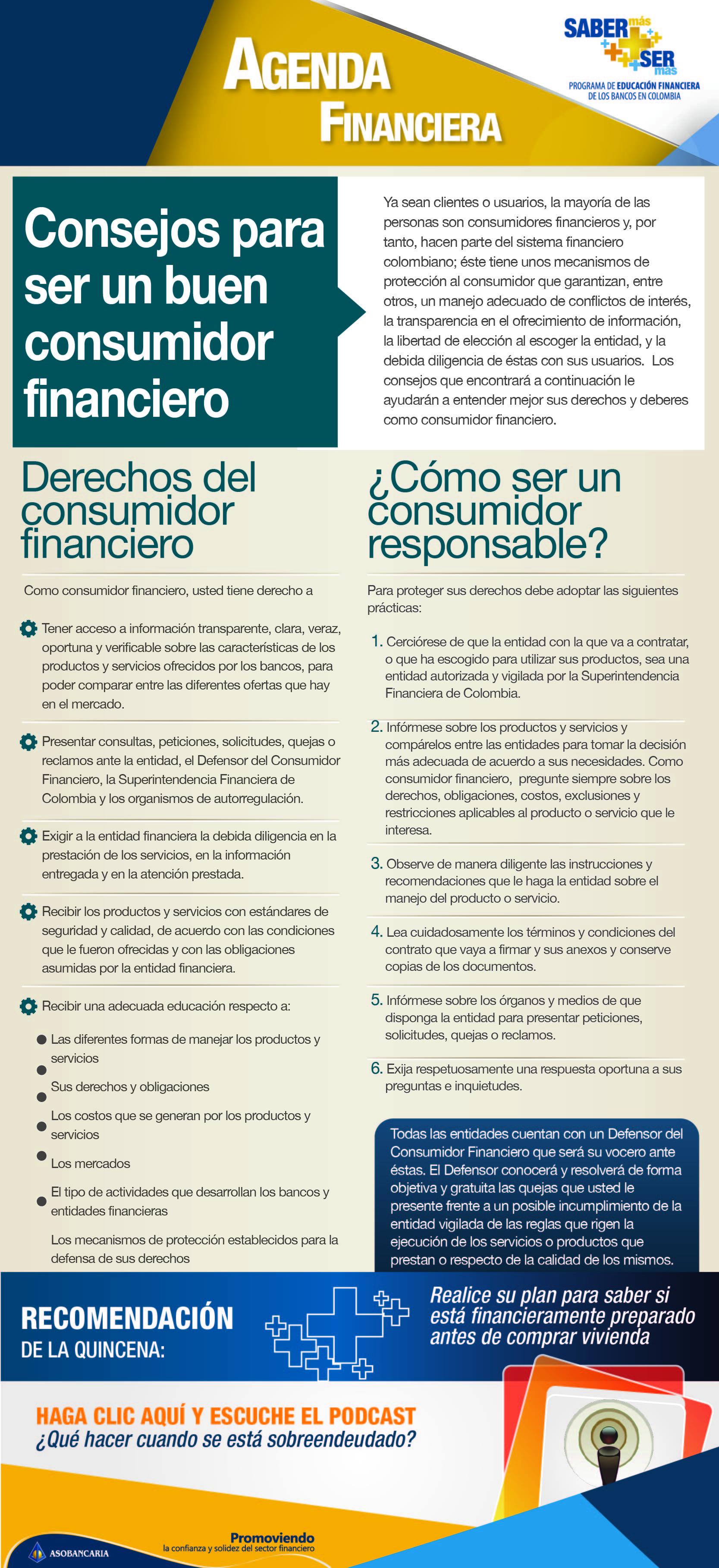Boletin 3 - Consejos para ser un buen consumidor financiero