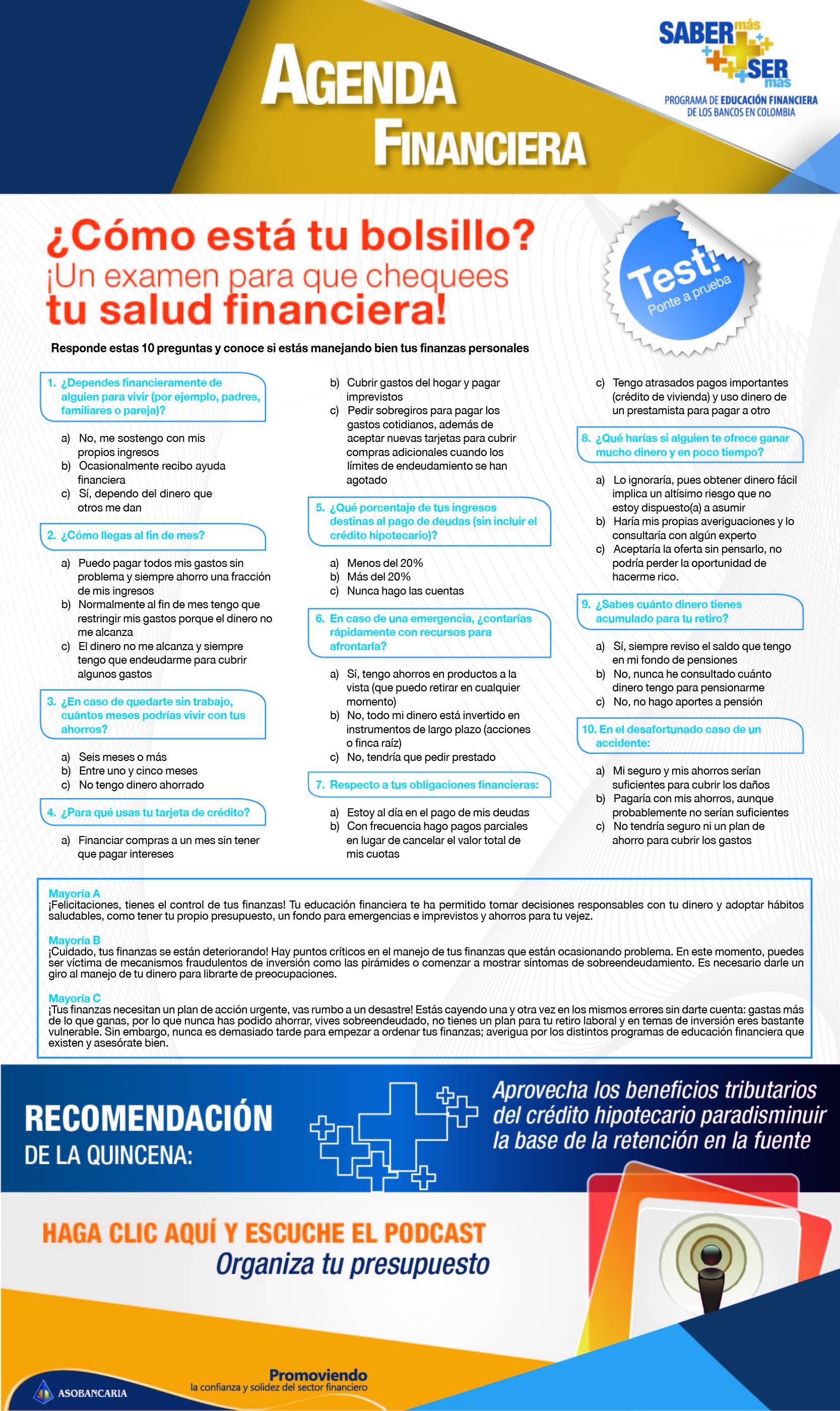 Boletin 4 - Como esta tu bolsillo. Un examen para que chequees tu salud financiera.