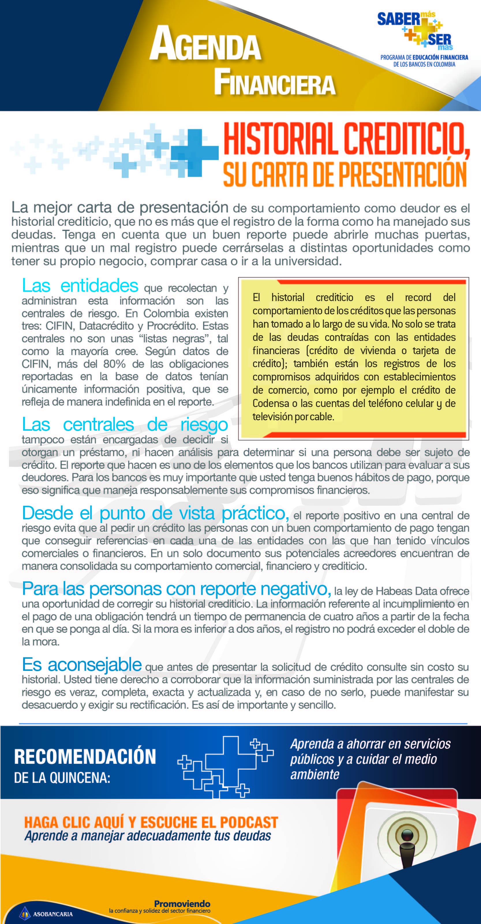 Boletin 6 -  Historial crediticio, su carta de presentacion