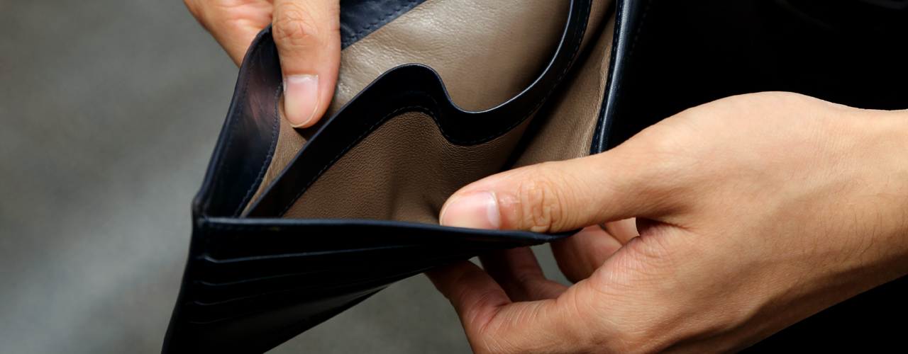 Billetera sin dinero